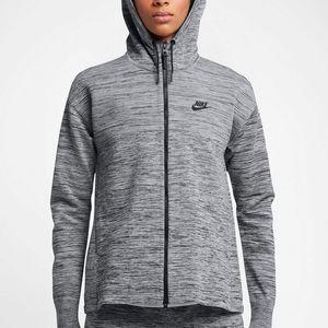 Nike Womens Tech Knit Full Zip Hoodie Jacket Cool